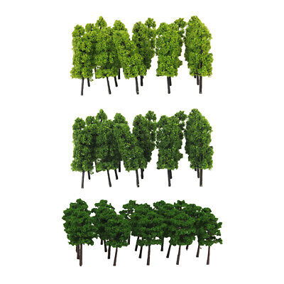 60x N Scale Layout Green Tree Models for Train Railway Park Garden Scene Toy for sale  China