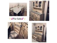 Beautiful Shabby Chic Dining table and chairs with matching Dresser