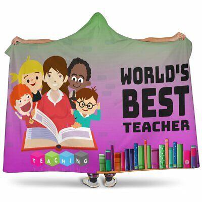 Best Teacher Hooded Blanket - Sherpa And Microfiber Blanket With