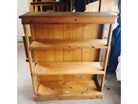 Pine shelving unit/ bookcase