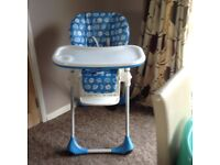 Chicco High chair. Used as spare. Vgc