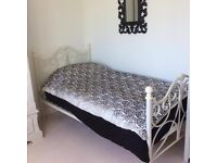 Vintage Style Metal Single Bed Frame with Dreams Mattress