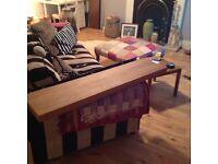 3x large habitat oak floating shelves-£150 new MUST SEE!!