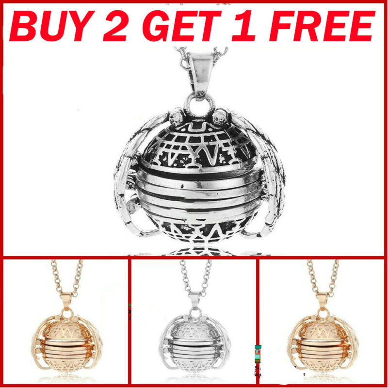 Jewellery - BUY 2 GET 1 GIFTS Expanding 4 Photo Locket Necklace Ball Angel Wing Pendant Memo