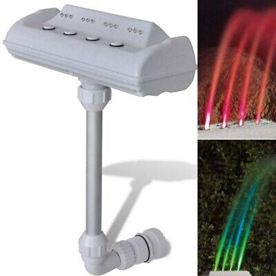 New Above Ground Cascade Waterfall Swimming Pool Fountain with LED Lights Jets