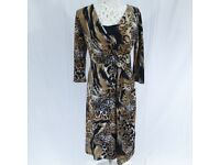 Marble Fashions animal print dress size 12 NEW with tag