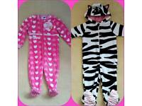 2 girls onesies age 1 - 1.5 years