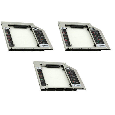 3Pcs 9.5mm SSD SATA Disk HDD Caddy Adapter Bay Hard Drive/CD-ROM for Macbook