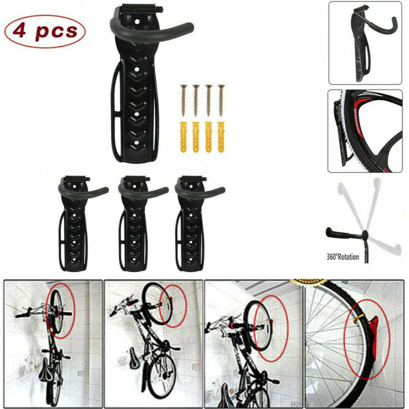 US Bicycle Cycling Wall Mount Rack Bike Steel Hook Hanger Storage Holder Garage