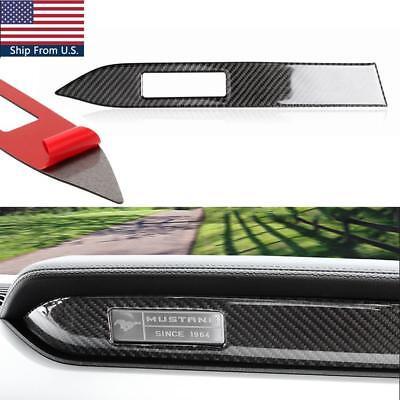 (For Ford Mustang 2015-2018 Carbon Fiber Interior Center Console Panel Decor Trim)