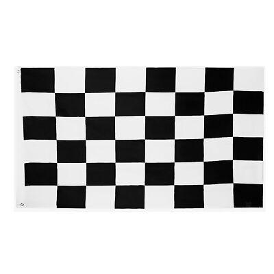 Schwarz Und Weiß Racing Flag (90x150cm schwarz und weiß Rechteck Gitter Racing Flag Haus Racing Banner)