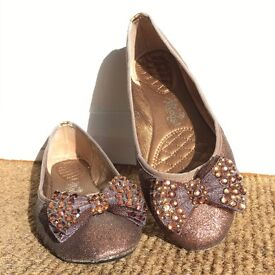 Gorgeous Ladies sparkly Flat Shoes