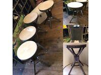 4 Evertaut industrial machinist stools