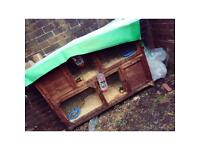 Two rabbits hutch and run