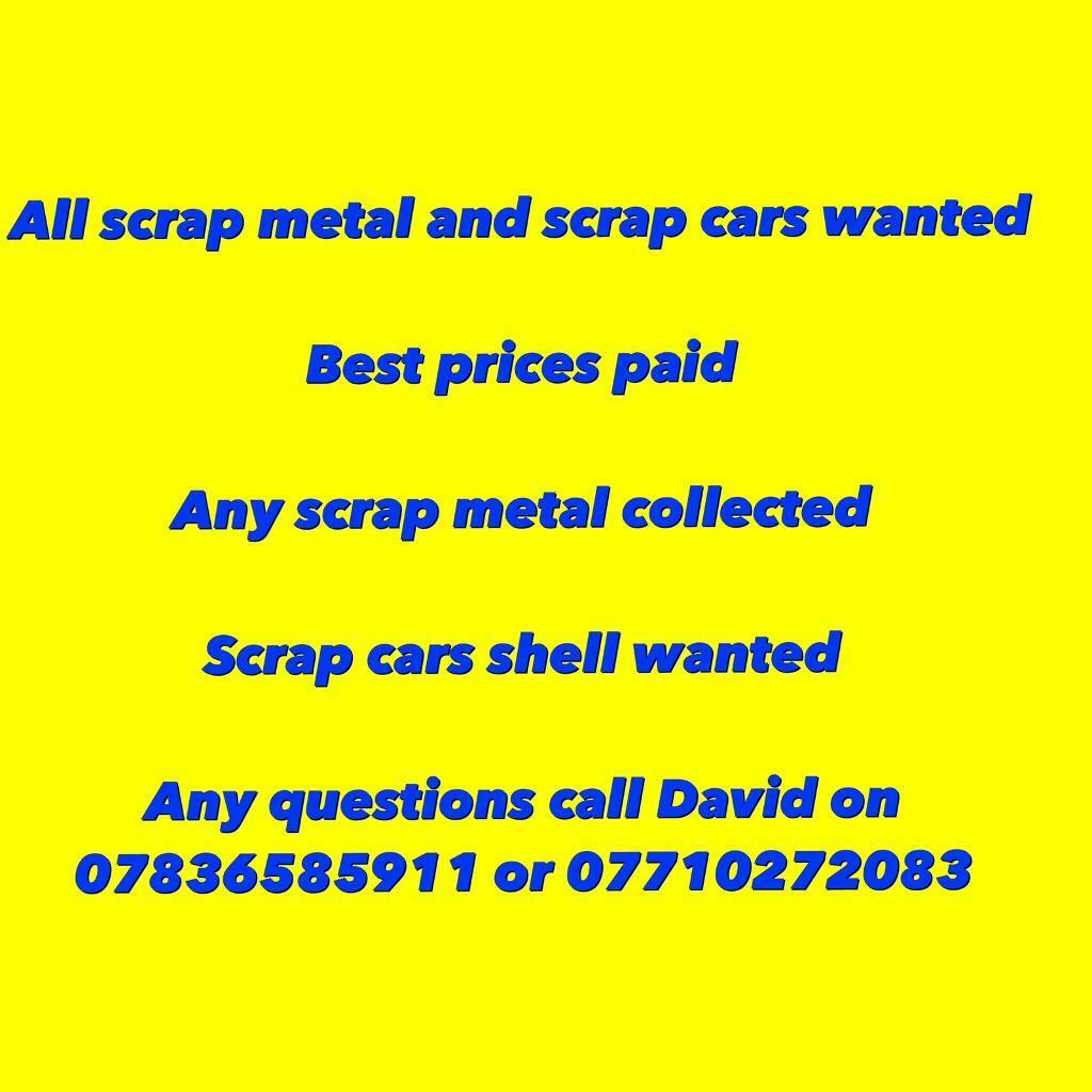 All scrap metal collected free of charge