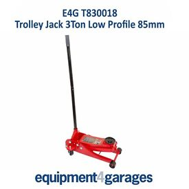 Brand New Trolley Jack 3Ton Low Profile 85mm E4G T830018