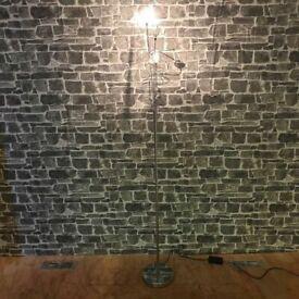 Chrome Base Floor Lamp