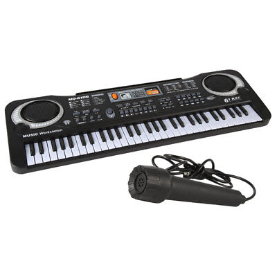 61 Keys Digital Music Electronic Keyboard Key Board Electric Piano & Microphone