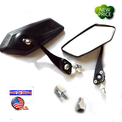2X 8mm 10mm Foldable Universal Motorbike Motorcycle ATV Scooter Rearview mirrors
