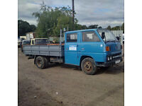 Left hand drive Mitsubishi Canter FE110 2.7 diesel double cab 5.5 Ton 6 tyres truck. Steel body.