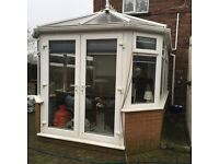 White UPVC Conservatory 4m X 3m dismantled & ready for collection