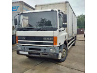 DAF CF65.240 18 Ton box lorry with tail lift. Manual injector pump.