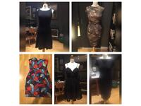Lot of 9 dresses and 1 trench coat