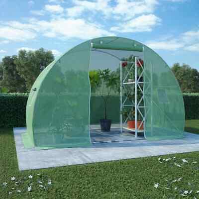 vidaXL Invernadero Cimientos Acero 4,5m² 300x150x200 cm Invernáculo Jardinera