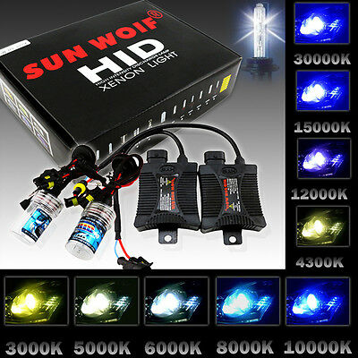 SUNWOIF 55W HID XENON Conversion Kit Headlight H1 H3 H4-3 H7 H9 H11 9006 HB4 H13