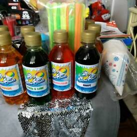 Snow cone syrup 10 bottles sealed