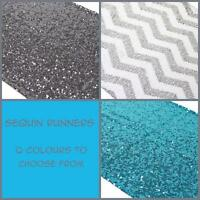 Sequin table runners available for RENT