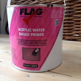 flag acrylic water based primer paint 2.5 litre
