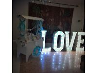 Wedding Entertainment Package Deal - Live Band, DJ, 4ft LOVE LETTERS and CANDY CART ONLY £995!