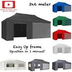 Easy up partytent 3x6, Vouwtent 3 x 6, div. kleuren