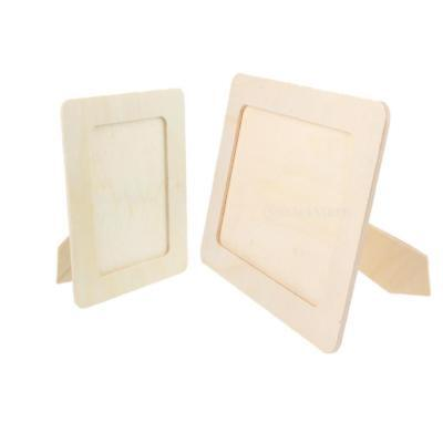 Unfinished Decorative Wood Frames (Unfinished Wood Photo Frame Home Decor Wedding Baby Shower Party Pictures)