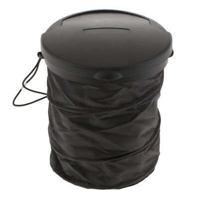 Vehicle Wastebasket Trash Can Litter Container Car Pop Up Garbage Bin Bag