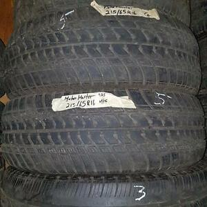 Set of two 215 65 16 tires for sale