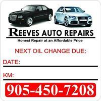 Oil Change Stickers / Decals