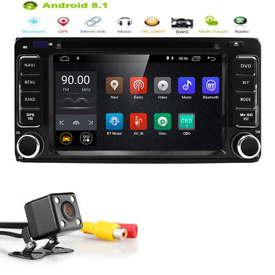 """6.2"""" Android 8.1 Car DVD Player Radio Stereo GPS For Toyota Camry 2002-2006+Cam"""