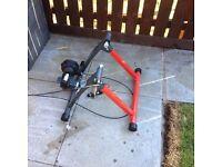 Boxed bike hut turbo trainer