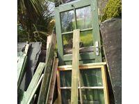 "garden shed. Shed Door height 69"" x 30""width £15. window 34""x28""; £15 or£20 both"