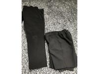 Black boys School Trousers and shorts 3-4 and 5-6