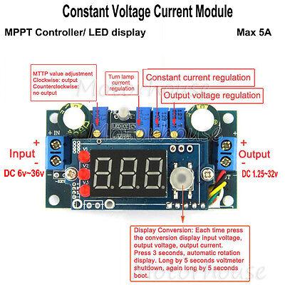 Solar Panels Mppt Controller 5a Dc Buck Step-down Constant Voltage Current Modul