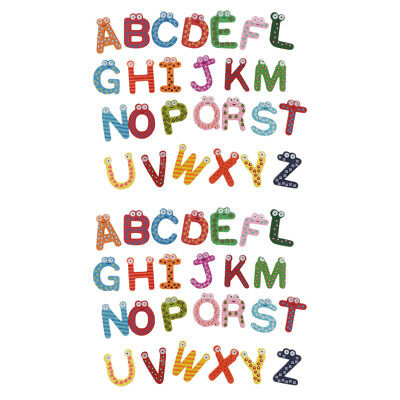 52 PCS ABC Magnetic Letters Wooden Learning Toy for Children Kids