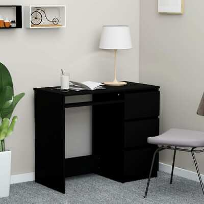 Vidaxl Desk Black Chipboard Computer Laptop Office Corner Table Furniture