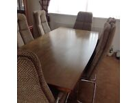 Pieff retro design table and six chairs as used in many TV studios.