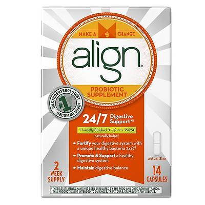 Align Probiotic Supplement, 24/7 Digestive Support with Bifantis, 14 Capsules
