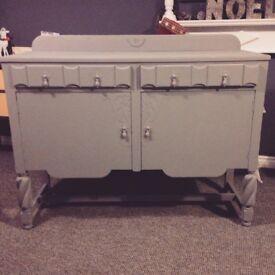 Beautiful antique grey wooden sideboard *bargain*
