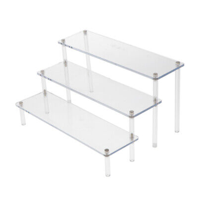Acrylic Riser Action Figures Display 3-Tier Showcase Table C