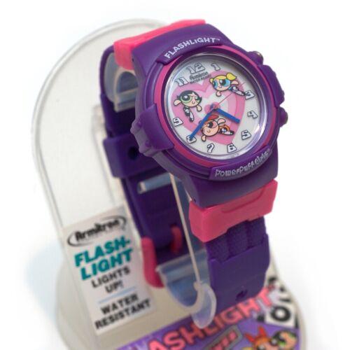 VTG 1990s Rare Power Puff Girls Armitron Flash Light Watch